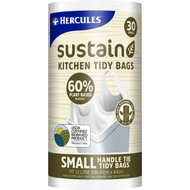 5 PACK of Hercules Sustain 60% Plant Based Kitchen Tidy Bag Small 30 pack