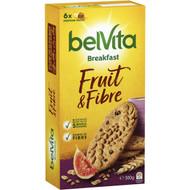 5 PACK of Belvita Fruit & Fibre Breakfast Biscuits 300g