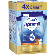 5 PACK of Aptamil Gold+ 3 Pronutra Toddler Nutritional Supplement Sachets 38g x4 pack