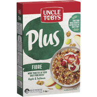 5 PACK of Uncle Tobys Cereal Plus Fibre 430g