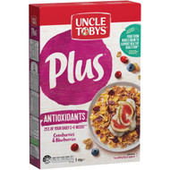5 PACK of Uncle Tobys Cereal Plus Antioxidant 435g