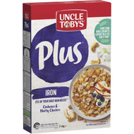 5 PACK of Uncle Tobys Cereal Plus Iron 410g