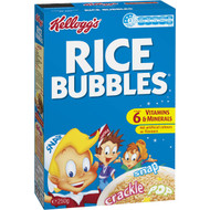 5 PACK of Kellogg's Rice Bubbles Puffed Rice Breakfast Cereal 250g