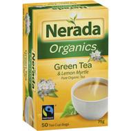 5 PACK of Nerada Organic Green Lemon Myrtle Tea Bags 50 pack