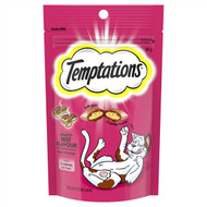 5 PACK of Temptations Cat Treats Hearty Beef 85g