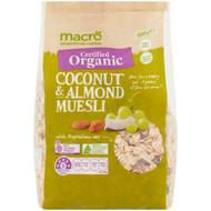 5 PACK of Macro Organic High Fibre Coconut Muesli 500g
