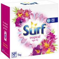 5 PACK of Surf Laundry Powder Tropical Lily 1kg
