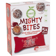 5 PACK of Macro Mighty Bites Strawberry Apple 5 pack