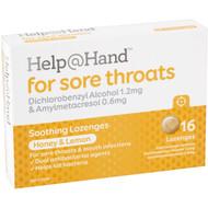 5 PACK of Help@hand Lozenges Honey & Lemon 16 pack