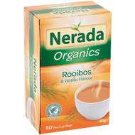 5 PACK of Nerada Organic Rooibos & Vanilla Tea Bags 50 pack