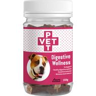 5 PACK of Pet Vet Digestive Wellness Chews 150g