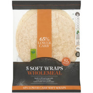 5 PACK of WW Lower Carb Wholemeal Wrap 5 pack