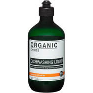 5 PACK of Organic Choice Dishwashing Liquid Lemongrass & Green Tea 500ml