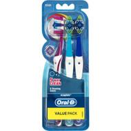 5 PACK of Oral-b 5 Way Clean Toothbrush 3 pack