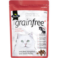 5 PACK of Fussy Cat Grain Free Beef And Kangaroo With Sweet Potato Dry Cat Food 500g