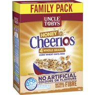 5 PACK of Uncle Tobys Cereal Cheerios Honey 570g