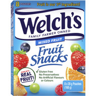 5 PACK of Welch's Mixed Fruit Snacks 160g