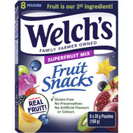5 PACK of Welch's Super Fruit Mix Fruit Snacks 160g