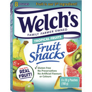 5 PACK of Welch's Tropical Fruits Fruit Snacks 160g