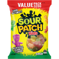5 PACK of The Natural Confectionery Co. Sour Patch Kids  520g