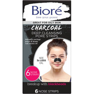 5 PACK of Biore Deep Cleansing Charcoal Pore Strip 6pk