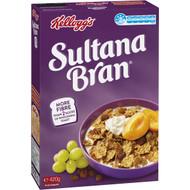 5 PACK of Kellogg's Sultana Bran High Fibre Breakfast Cereal 420g
