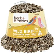 5 PACK of Frankie & Friends Wild Bird Sunflower Seed Bell Treat 585g