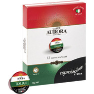 5 PACK of Espressotoria Aurora Coffee Italian Coffee Capsules 100g