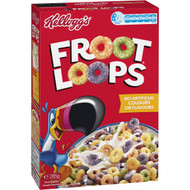 5 PACK of Kellogg's Froot Loops Breakfast Cereal 285g