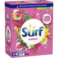 5 PACK of Surf Laundry Powder Tropical 2kg