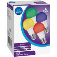 5 PACK of Olsent Led Gls Es 6w Party Lights Multi Color 4 pack