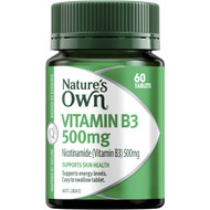 5 PACK of Nature's Own Vitamin B3 500mg Tablets 60 pack