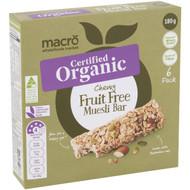 5 PACK of Macro Organic Chewy Fruit Free Muesli Bars 6 pack