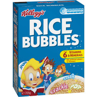 5 PACK of Kellogg's Rice Bubbles Puffed Rice Breakfast Cereal 705g