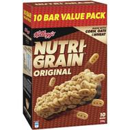 5 PACK of Kellogg's Nutri-grain Original Cereal Snack Bars 240g