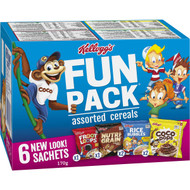 5 PACK of Kellogg's Fun Breakfast Cereals Assorted 6 pack