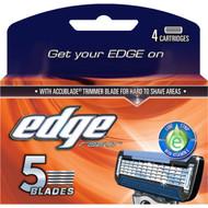 5 PACK of Edge Mens 5 Blade Cartridge 4 pack