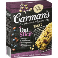 5 PACK of Carman's Cranberry & Blueberry Oat Slice 6 pack