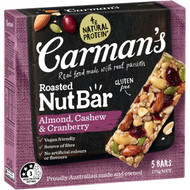 5 PACK of Carman's Almond, Cashew & Cranberry Nut Bars 5 pack