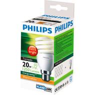3 PACK OF Philips Cfl Tornado Warm White Globe 20w Bc Base