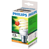3 PACK OF Philips Cfl Tornado Warm White 12w Bc Base