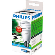 3 PACK OF Philips Cfl Tornado Cool Daylight 20w Bc Base