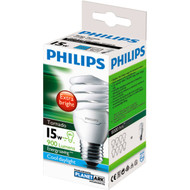 3 PACK OF Philips Cfl Tornado Cool Daylight 15w Es Base