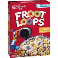 3 PACK OF Kellogg's Froot Loops Breakfast Cereal 500g