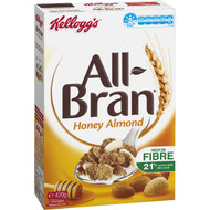 3 PACK OF Kellogg's All-bran Flakes Honey Almond Cereal 420g