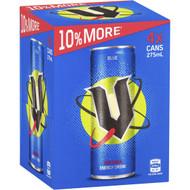 3 PACK OF V Energy Drink Blue 4x275ml