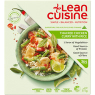3 PACK OF Lean Cuisine Thai Red Chicken Curry With Rice 375g