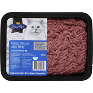 3 PACK OF Fussy Cat Grain Free Finest Mince With Beef Chilled Cat Food 800g