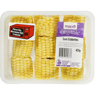 3 PACK OF Macro Organic Corn Cobettes Pre-pack 425g
