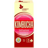 3 PACK OF Connect Foods Kombucha Infusion Black Tea Bags Apple Cinnamon 15 pack